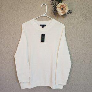 ♦ Karen Scott White Crew Neck Sweater ♦